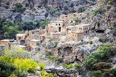 foto of jabal  - Image of ruins Wadi Bani Habib in Oman - JPG