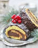 foto of yule  - Yule log  - JPG