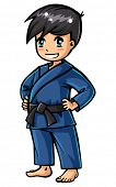 picture of judo  - Judo boy character  - JPG