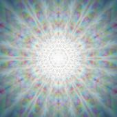 image of mystical  - Mystic shiny dandelion mandala with optical aberrations - JPG