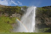pic of hughes  - Seljalandsfoss one of the many waterfalls on Iceland - JPG