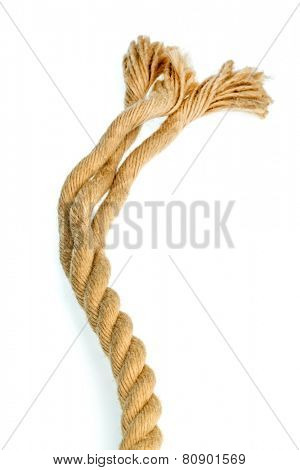 piece of rope, symbolic photo for power, reliability and weakness