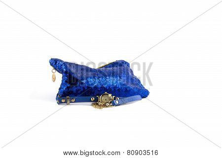 Glamorous Blue Female Bag