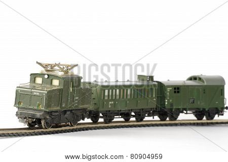 electric train green toy miniature 2