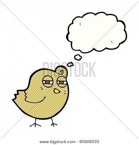 cartoon suspicious bird