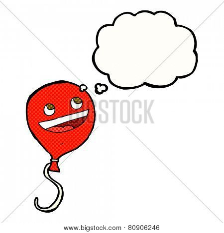 cartoon balloon with thought bubble