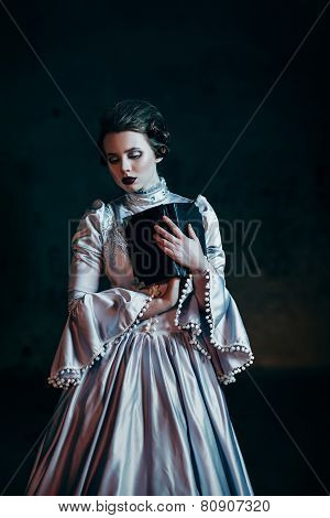 Woman in victorian dress