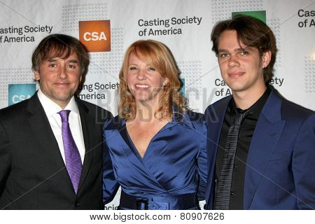 LOS ANGELES - JAN 22:  Richard Linklater, Beth Sepko, Ellar Coltrane at the American Casting Society presents 30th Artios Awards at a Beverly Hilton Hotel on January 22, 2015 in Beverly Hills, CA