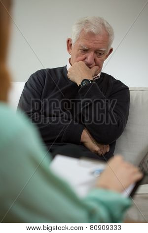Senior Man With Depression