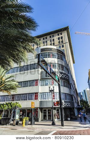 Facade Of La Epoca Department Store In Miami