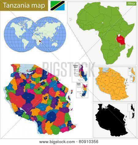 Administrative division of the United Republic of Tanzania