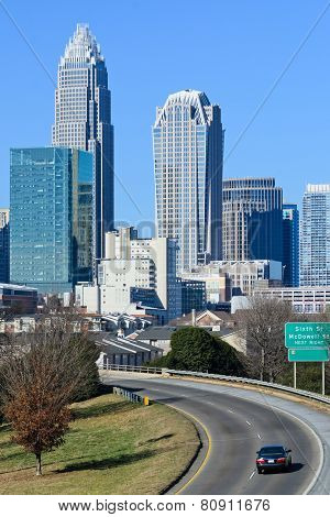 View on Uptown Charlotte, NC