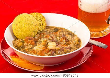 Cajun Gumbo With Beer