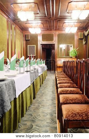 Banquet facilities served table