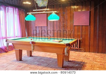 image of the billiard table