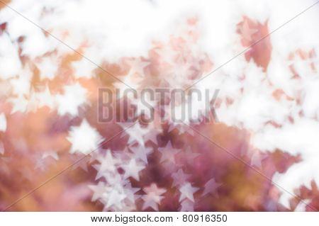 White bokeh on pink shade