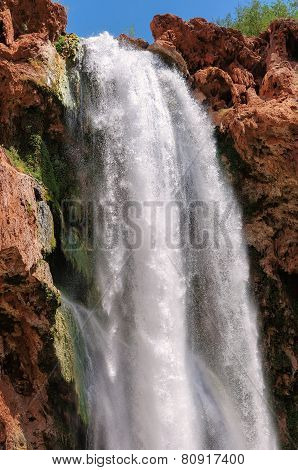 Falls in rocks, Mooney Falls, Grand Canyon, Arizona