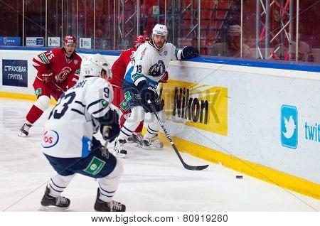 Forward Ville Leino (18) In Action