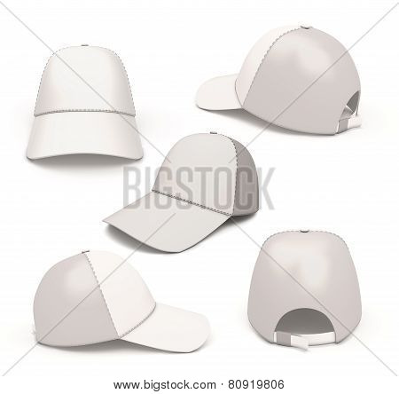Set Baseball Caps From Different Angles