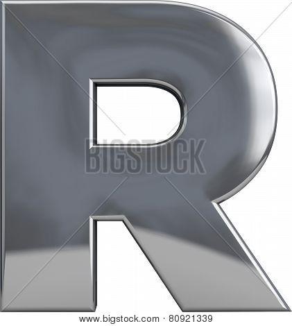 Metal Letter R
