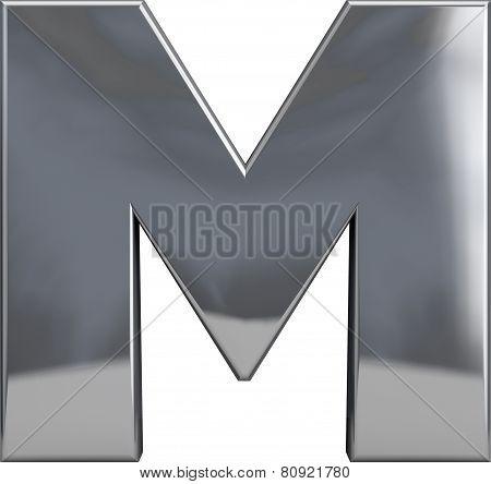 Metal Letter M