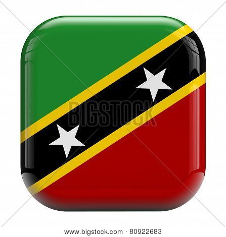 Saint Kitts And Nevis Flag Icon Image