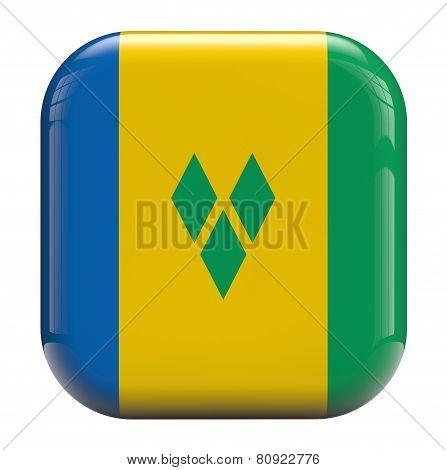 Saint Vincent Flag Icon Image