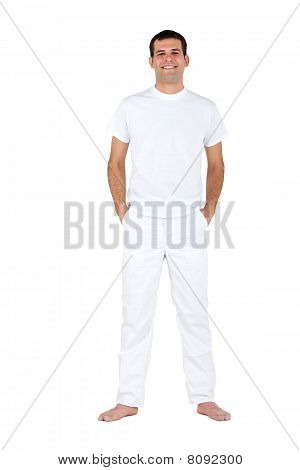 Man In White