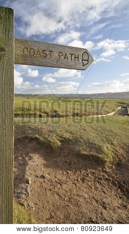 Coast Path Sign