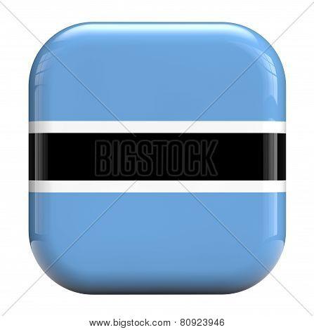 Botswana Faso Flag Image Icon