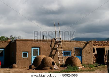 Taos Pueblo In New Mexico, Usa