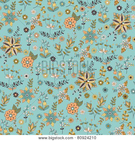 Vector Pattern With Wild Flowers
