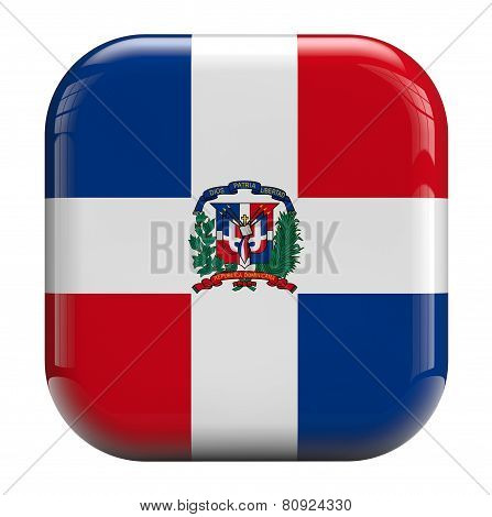 Dominican Republic Flag Icon Image