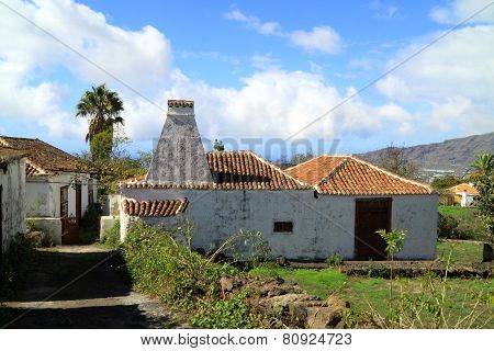 Typical old houses on La Palma