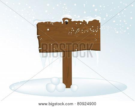 Winter Signboard