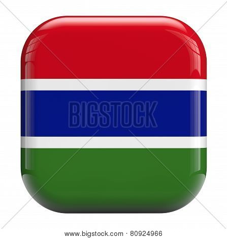 Gambia Flag Icon Image