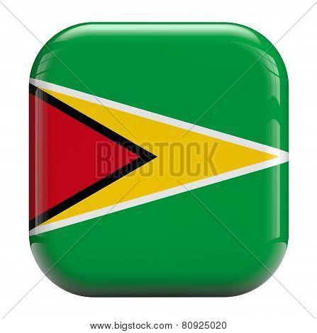 Guyana Flag Icon Image