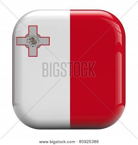 Malta Islands Flag Icon Image