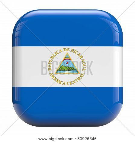 Nicaragua Flag Symbol Image.