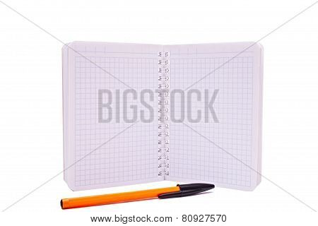 Notebook And Pen Isolated