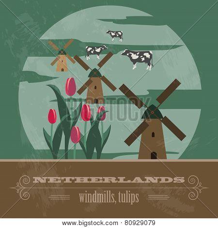 Netherlands infographics, statistical data, sights