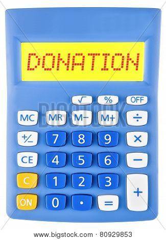 Calculator With Donation On Display