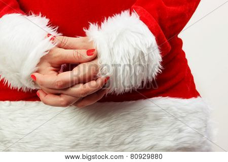 Santa Claus With Crossed Hands