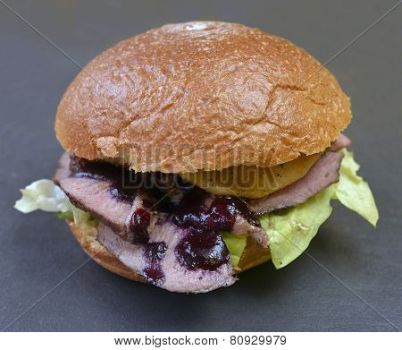 Burger With Duck Meat