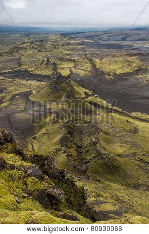 Lakagígar - craters on Iceland