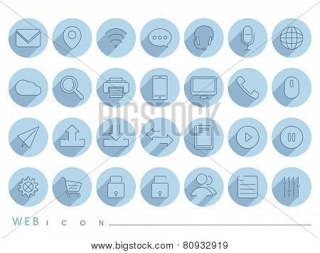 Collection of mail and networking icons for your business.