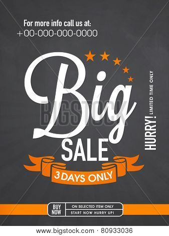 Big sale with limited time period flyer, banner or template.