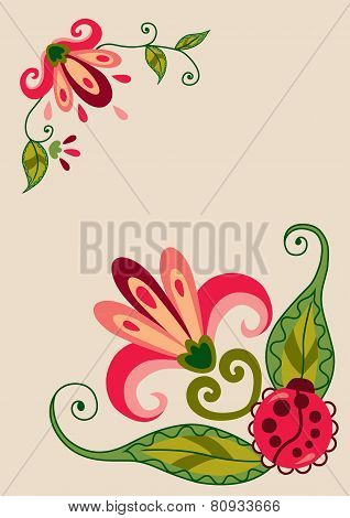 Flowers On Card
