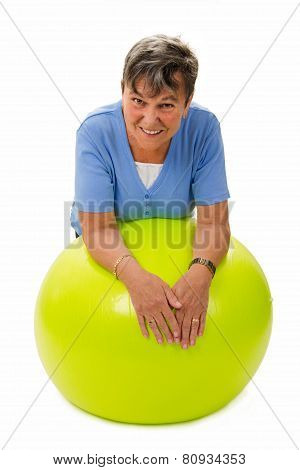 Senior Woman On A Ball