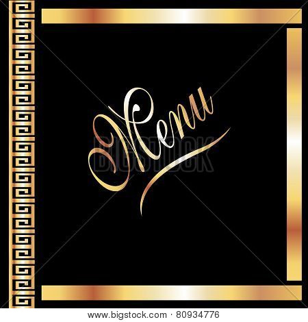 Elegant Black & Gold Menu Cover